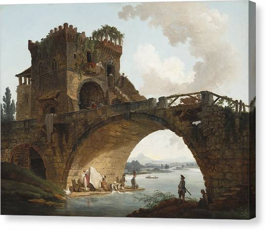The Ponte Salario Canvas Print