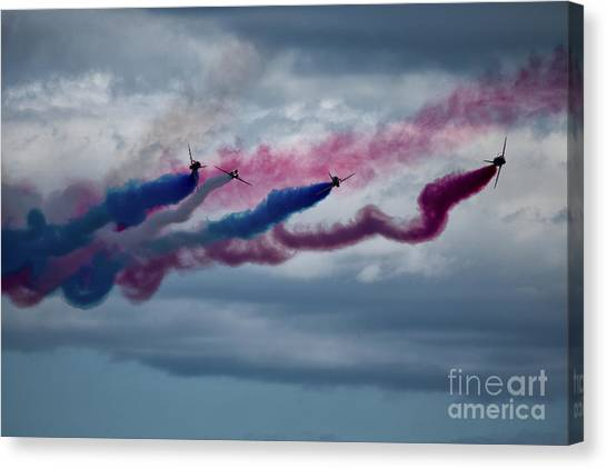 Sunderland Canvas Print - The Red Arrows by Smart Aviation