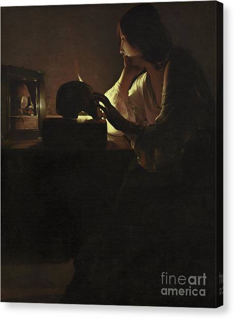 Chin Canvas Print - The Repentant Magdalen by Georges de la Tour