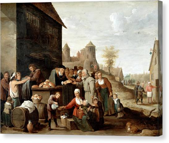 Mercy Canvas Print - The Seven Corporal Works Of Mercy by David Teniers the Younger
