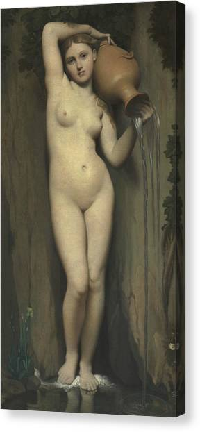 Neoclassical Art Canvas Print - The Spring by Jean-Auguste-Dominique Ingres