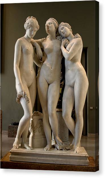 The Three Graces Canvas Print by Carl Purcell