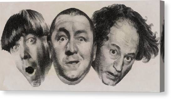 Stardom Canvas Print - The Three Stooges Hollywood Legends by John Springfield