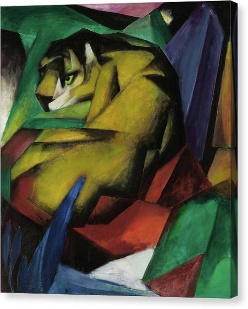 The Tiger Canvas Print - The Tiger  by Franz Marc