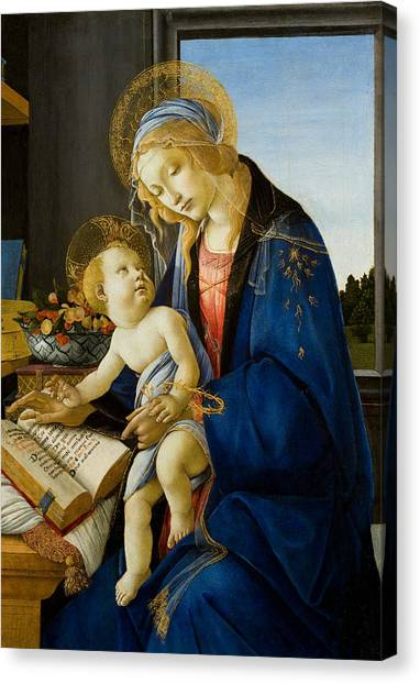Botticelli Canvas Print - The Virgin And Child by Sandro Botticelli