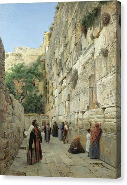 Palestinian Canvas Print - The Wailing Wall, Jerusalem by Gustav Bauernfeind