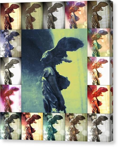 The Winged Victory - Paris - Louvre Canvas Print