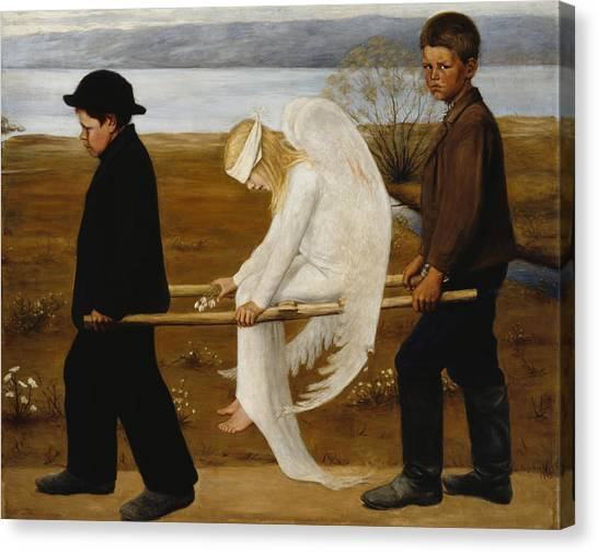 Cupid Canvas Print - The Wounded Angel by Hugo Simberg