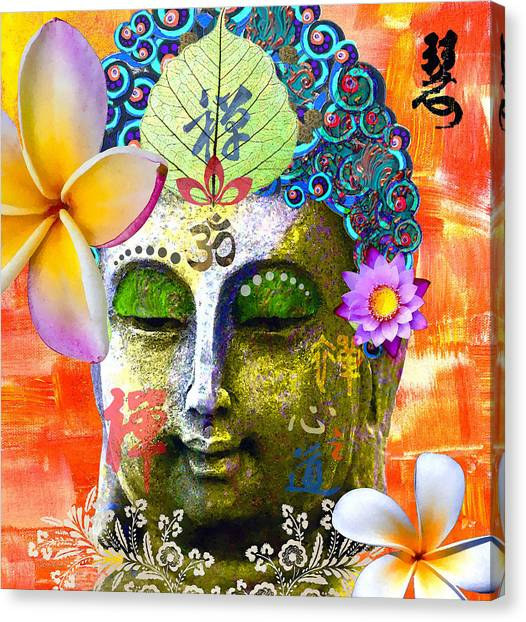 Statue Portrait Canvas Print - Timeless Wisdom by Stacey Chiew