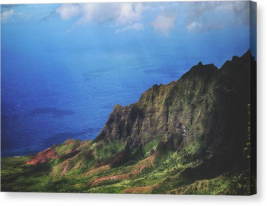 Mountain Cliffs Canvas Print - To The Ends Of The Earth by Laurie Search