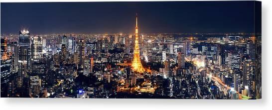 Tokyo Skyline Canvas Print