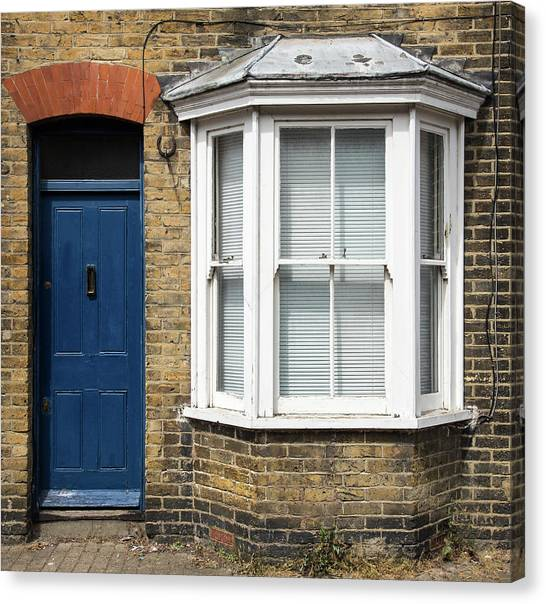 Traditional English House Front Entrance Canvas Print