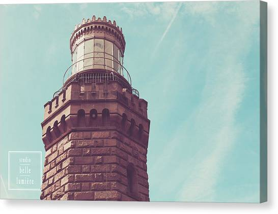 Twin Lights Lighthouse Atlantic Highlands New Jersey Canvas Print by Erin Cadigan