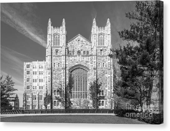 Arbor Canvas Print - University Of Michigan Law Library by University Icons