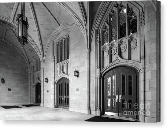 Mac Canvas Print - University Of Toledo University Hall by University Icons