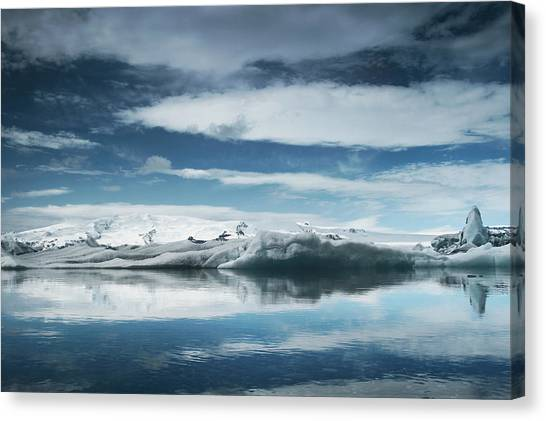 Vatnajokull Glacier Canvas Print - Vatnajokull, Iceland by Mark Owen