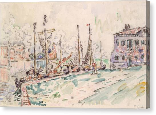 Divisionism Canvas Print - Venice by Paul Signac