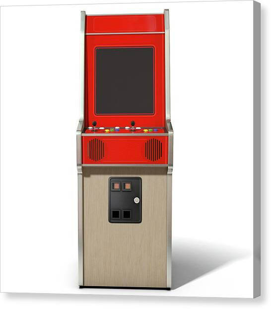 Gaming Consoles Canvas Print - Vintage Arcade Machine by Allan Swart