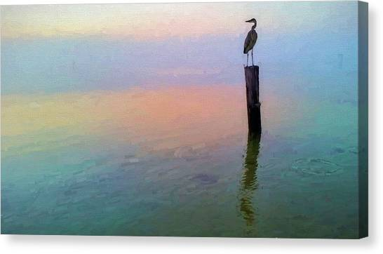 Watching Over Pensacola Bay Canvas Print by JC Findley