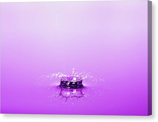 Water Drop Crown Canvas Print