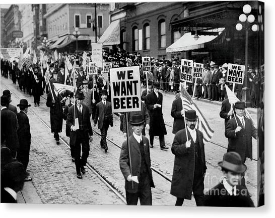Rum Canvas Print - We Want Beer by Jon Neidert