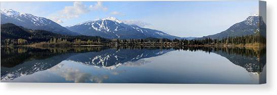 Whistler Blackcomb Green Lake Reflection Canvas Print
