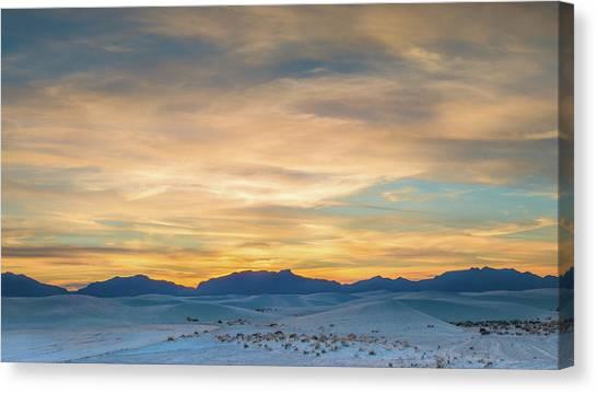 White Sand Canvas Print - White Sands Sunset by Joseph Smith