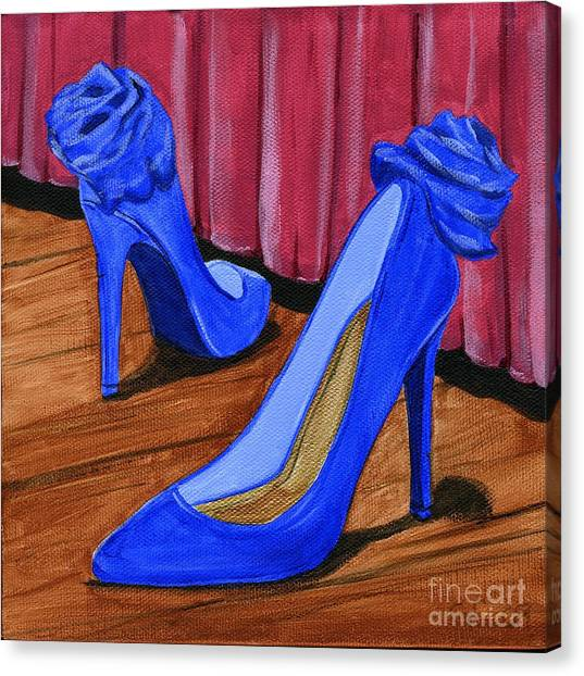 Who Wears These Shoes Canvas Print