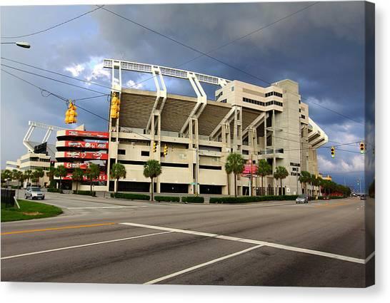 University Of South Carolina Canvas Print - Williams-brice Stadium 1 by Joseph C Hinson Photography