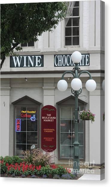 Wine And Chocolate Canvas Print