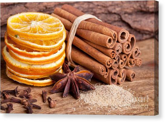 Bakery Canvas Print - Winter Spices by Nailia Schwarz