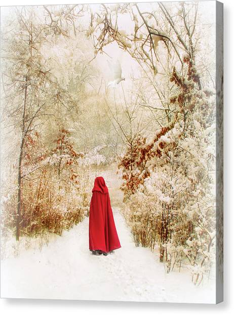Forest Paths Canvas Print - Winter Walk by Jessica Jenney