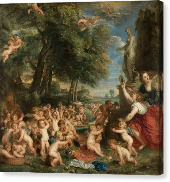 God Of War Canvas Print - Worship Of Venus by Peter Paul Rubens
