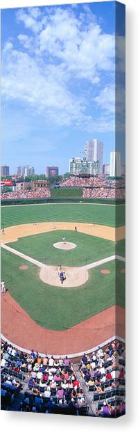 Pitching Canvas Print - Wrigley Field, Chicago, Cubs V by Panoramic Images