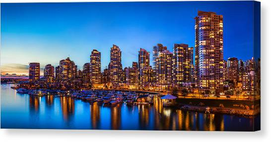 Vancouver Skyline Canvas Print - Yaletown From Cambie Bridge by Alexis Birkill