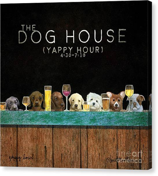 Yappy Hour... Canvas Print