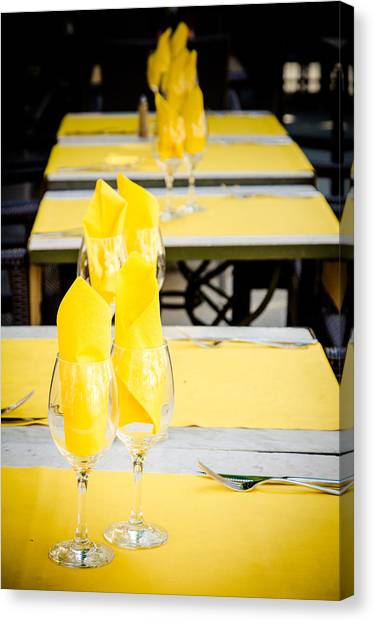 Canvas Print featuring the photograph Yellow by Jason Smith