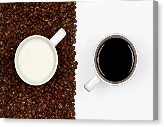 Milk Canvas Print - Yin And Yang by Gert Lavsen
