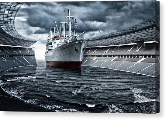 Battleship Canvas Print - Manipulation by Super Lovely