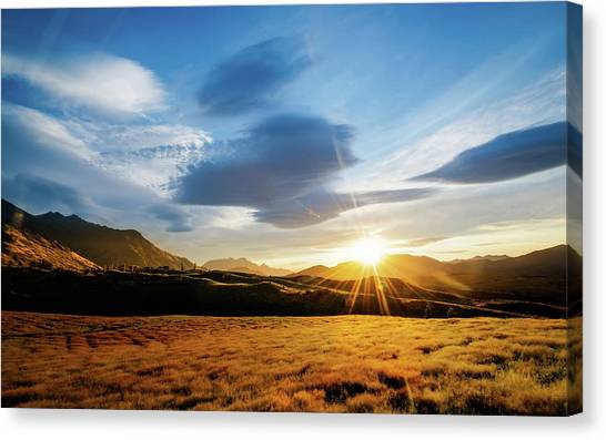 Sunrise Horizon Canvas Print - Sunbeam by Mariel Mcmeeking