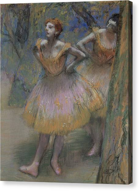 Edgar Degas Canvas Print - Two Dancers by Edgar Degas