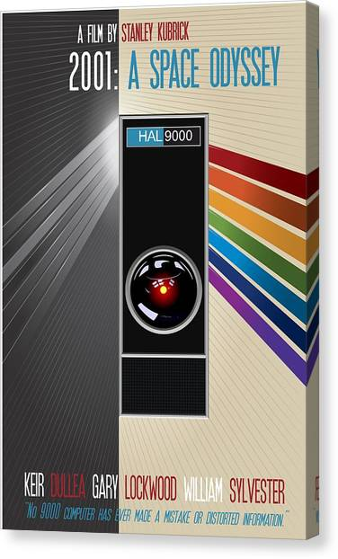 2001 A Space Odyssey Poster Print - No 9000 Computer Has Ever Made A Mistake Canvas Print
