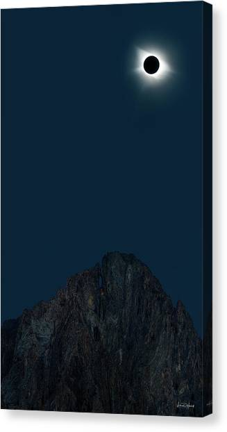 Canvas Print featuring the photograph 2017 Eclipse by Leland D Howard