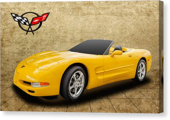 2002 C5 Chevy Corvette Canvas Print
