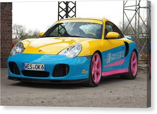 Ok Canvas Print - 2002 Ok Chiptuning Manta Porsche 996 Turbo  1 by Mery Moon