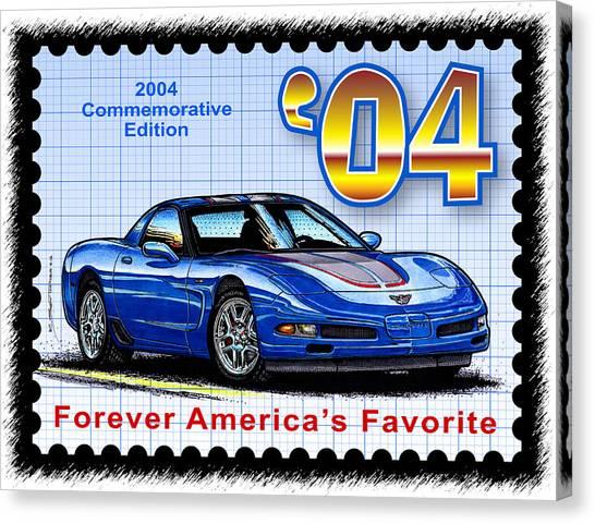 2004 Commemorative Edition Corvette Canvas Print