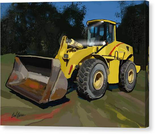 Hard Hat Canvas Print - 2005 New Holland Lw230b Wheel Loader by Brad Burns