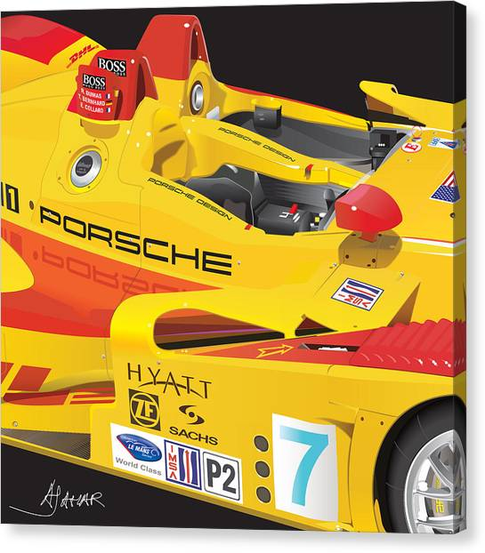 Sec Canvas Print - 2008 Rs Spyder Illustration by Alain Jamar