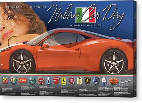 2009 Atlanta Italian Car Day Poster Canvas Print