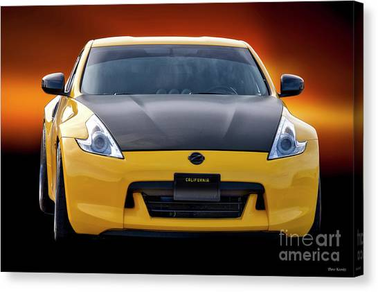 370z Canvas Print   2009 Nissan 370z U0027head Onu0027 I By Dave Koontz